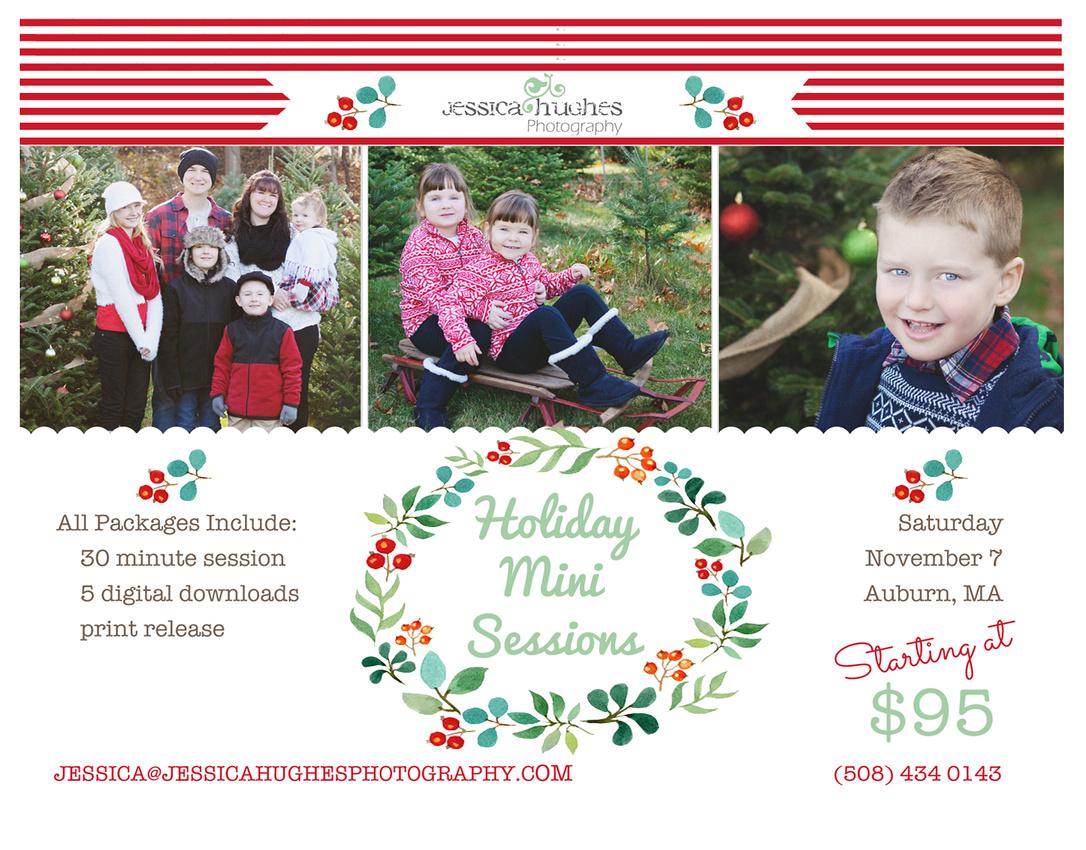 Massachusetts Christmas Holiday Mini Sessions